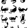 Royalty-Free Stock Imagen vectorial: Funny black cats