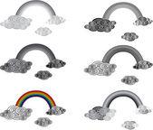 Rainbow set — Stock Vector