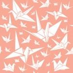 Origami paper cranes — Stock Vector #27149851