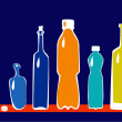 Set of bottles — Imagen vectorial