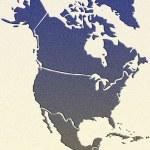 Mapa Ameryki Północnej — Zdjęcie stockowe