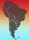 карта южной америки — Стоковое фото