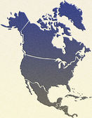 North America map — Stok fotoğraf
