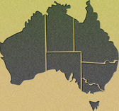 Kaart van australië — Stockfoto