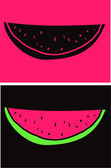 Vector watermelon slices — Stock Vector