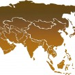 Asia map with country borders — Stock Photo