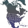 Stock Photo: North America map