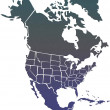 North America map — Foto de Stock