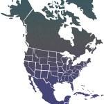 kaart van Noord-Amerika — Stockfoto