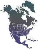 North America map — Foto Stock