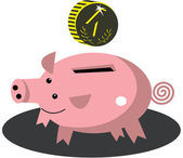 存钱罐里的插图 — 图库矢量图片
