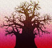 Illustration of a large tree — Stock Photo