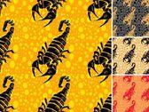 Ot scorpion naadloze patroon instellen — Stockvector