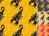 Set ot scorpion seamless pattern — Stockvector