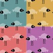 Funny fish seamless vector pattern — Stock Vector