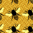 Honey bee seamless pattern — Stock Photo