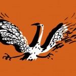 Funny bird — Stock Vector