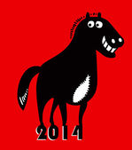 Year of horse 2014 — Stock Vector