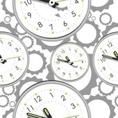 Seamless pattern with clocks — Cтоковый вектор