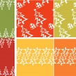 Christmas tree pattern set — Stok Vektör