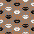 Stock Vector: Lips seamless pattern