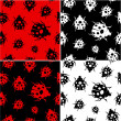 Seamless pattern with ladybirds — 图库矢量图片
