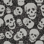 Seamless pattern with skulls — Stock Photo