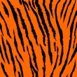 Seamless tiger fur pattern — Stock Vector