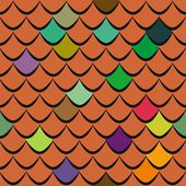 Roof tiles seamless pattern — Stock Vector