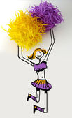 Funny Cheerleader — Stock Photo