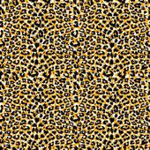 Seamless leopard fur pattern — Stock Vector