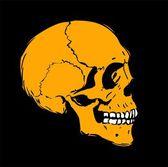 Menschlicher schädel-profil — Stockvektor