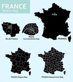 Maps of France — Stock Vector