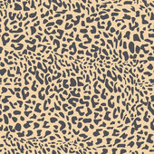 Sömlös leopard päls mönster — Stockvektor