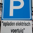 Royalty-Free Stock Photo: Parking only electric car