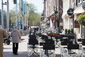 Terrace in Amsterdam — Stock Photo