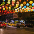 Chinese lanterns over the street — Stock Photo #40542081