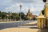 Strada del re palazzo phnom penh — Foto Stock