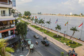 Phnom Penh riverside — Stock Photo