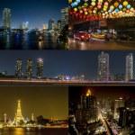 Bangkok by night — Stock Photo