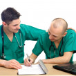 Doctors at office — Stock Photo