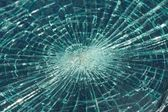 Smashed windscreen — Stock Photo
