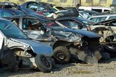 Smashed cars — Stockfoto