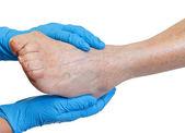 Elderly feet — Stock Photo