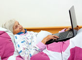Bored elderly — Stock Photo