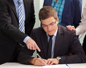Contract signing — Stock Photo