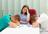 Frustrated doctors — Stock Photo