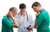 Indefinite medical team — Stock Photo