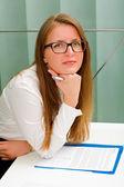 Beautiful secretary woman — Stock Photo