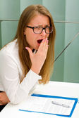 Beautiful secretary woman — Stock Photo
